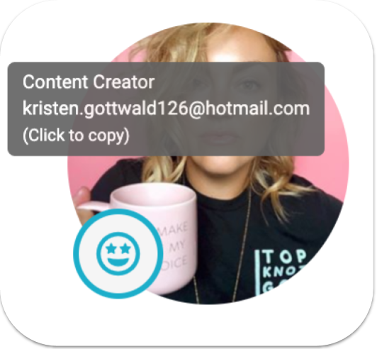 instagram account type icon and email